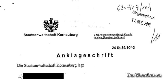 aus der Anklageschrift der Staatsanwaltschaft Korneuburg | Faksimile: DerGloeckel.eu