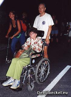 Behindertensport bei der Münchner Blade Night