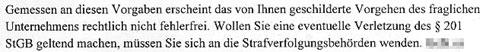 Faksimile 2 aus der Stellungnahme des BfDI