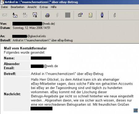 Leserreaktion eines deklarierten ehemaligen Mitarbeiters von eBay