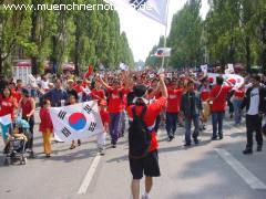 koreanische Fußballfans