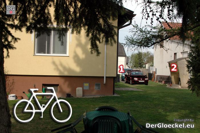 Die Situation auf dem Grundstück, das der offensichtlich auskundschaftende Verdächtige rechtswidrig betreten hat | Foto: DerGloeckel.eu