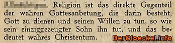 Text der ZEUGEN JEHOVAS über Religion